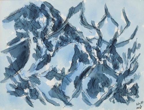 Marcel Dumont, Les Alpilles en hiver