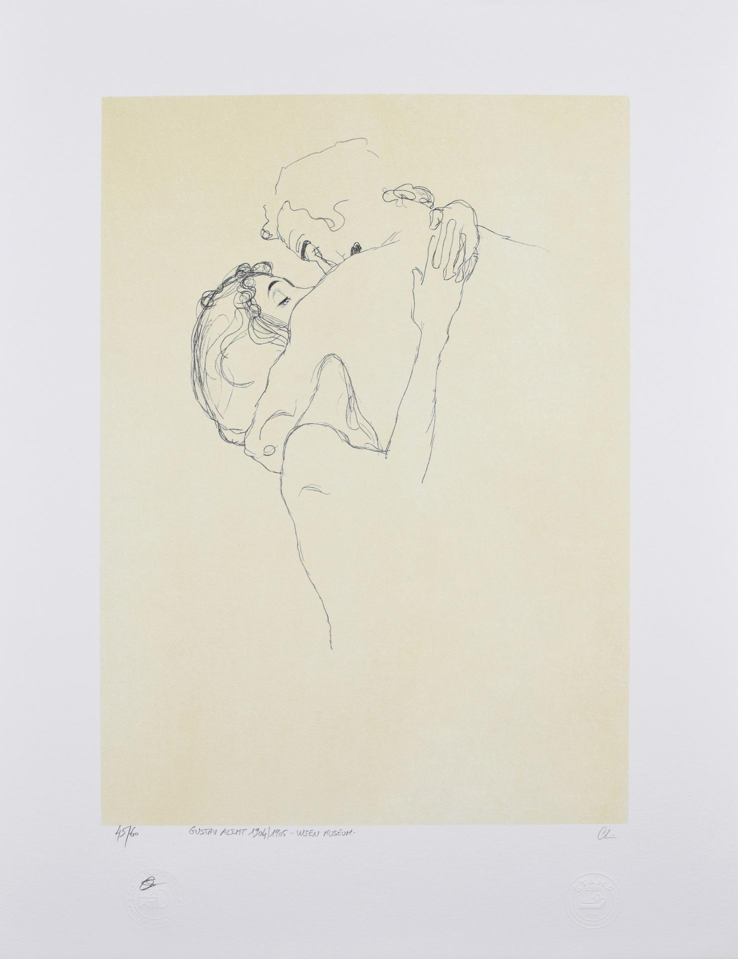 GUSTAV KLIMT | Lovers, 1904/1905 | Lithograph