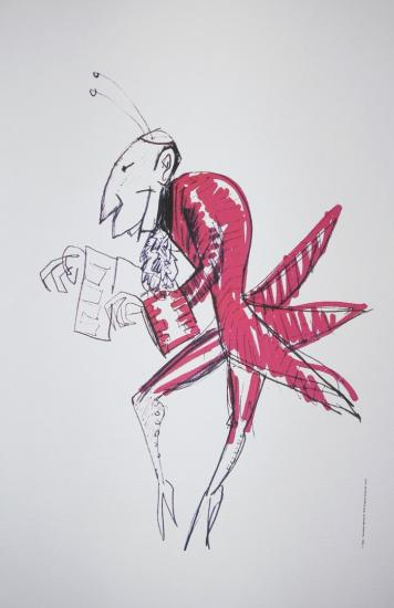 Casanova Daniel Emilfork lithograph 1976