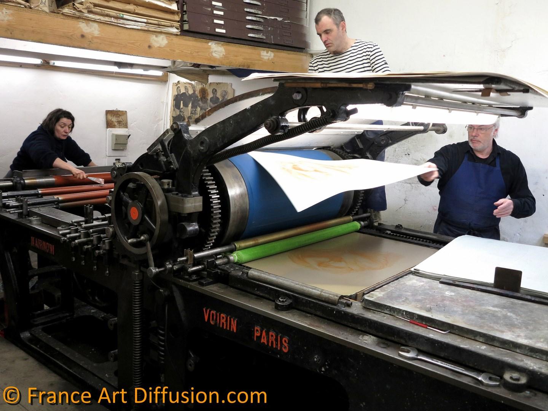 John William Waterhouse, Stufy for Boreas Lithograph, FRANCE ART DIFFUSION Edition