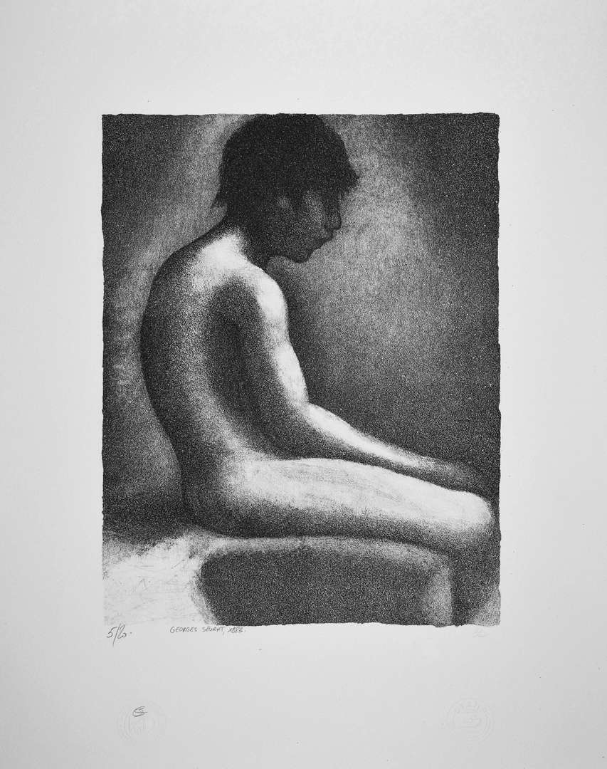 GEORGES SEURAT | Lithographie | Nu assis, 1883