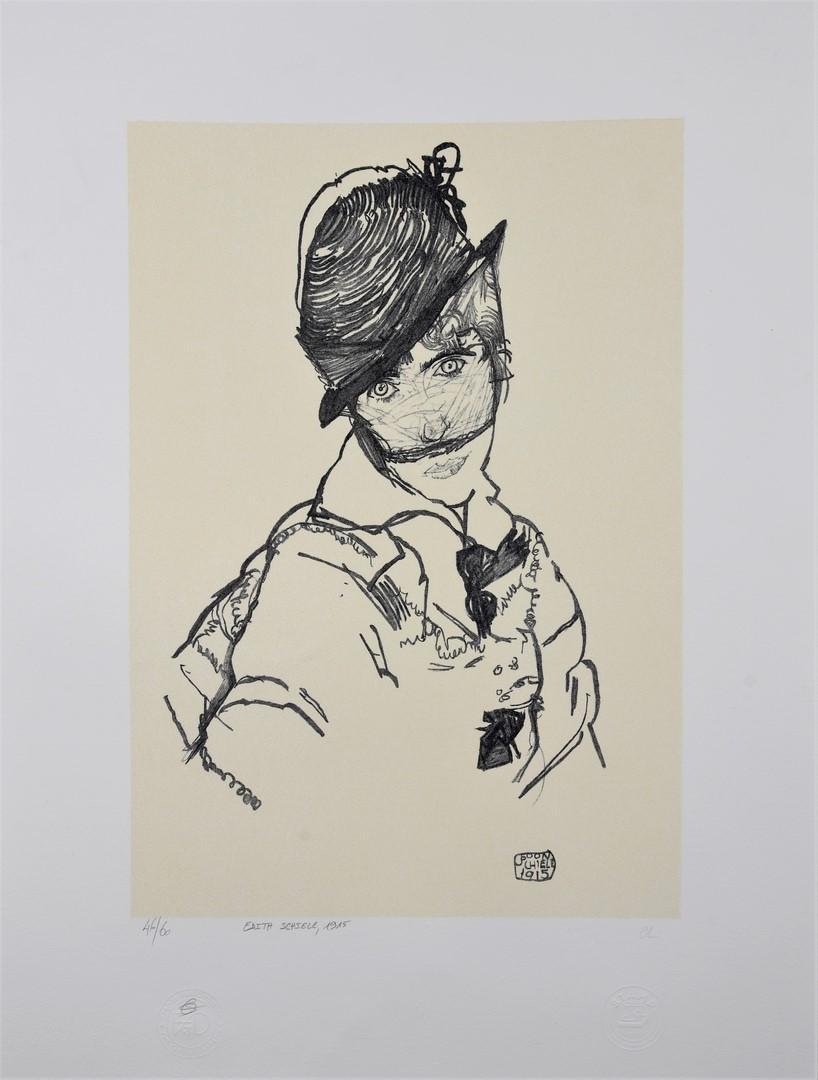 EGON SCHIELE | Edith Schiele, 1915  | Lithograph