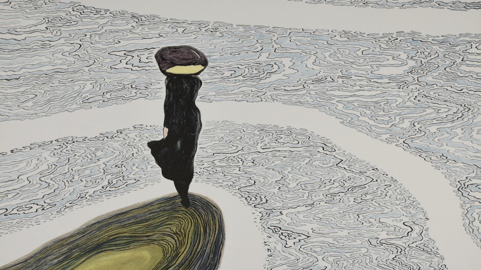 LEON SPILLIAERT | La Fille au Bord de l'eau, 1910 | Lithographie