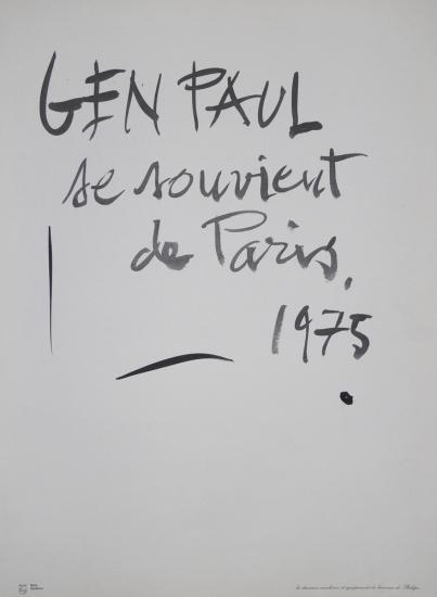 Gen paul Calendrier 1975