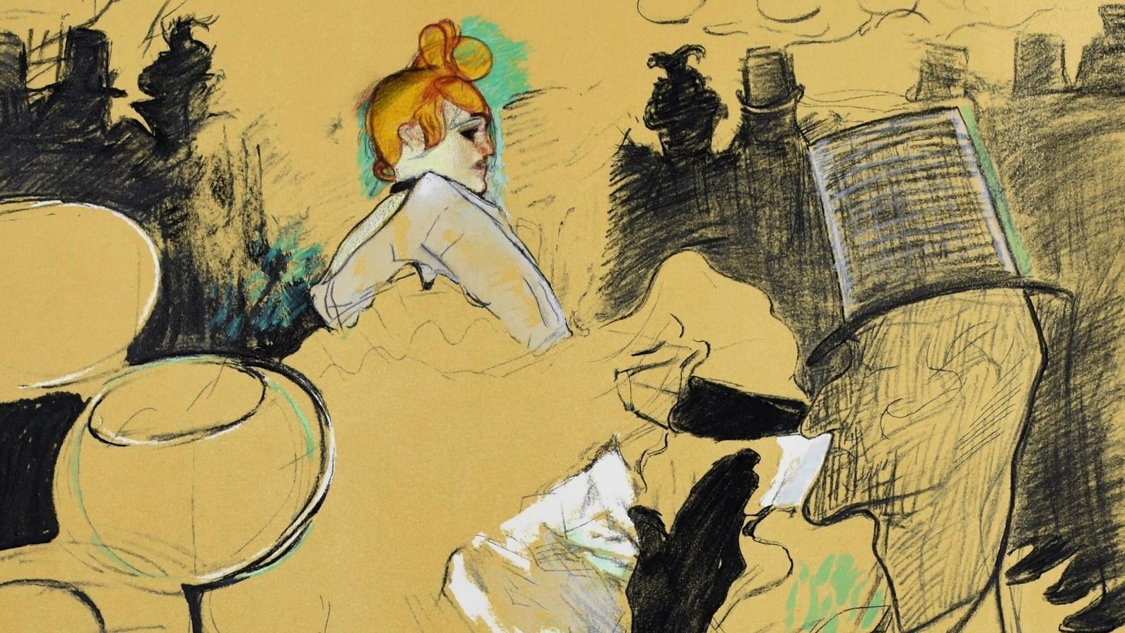 TOULOUSE LAUTREC | Moulin Rouge, 1891 | Lithograph