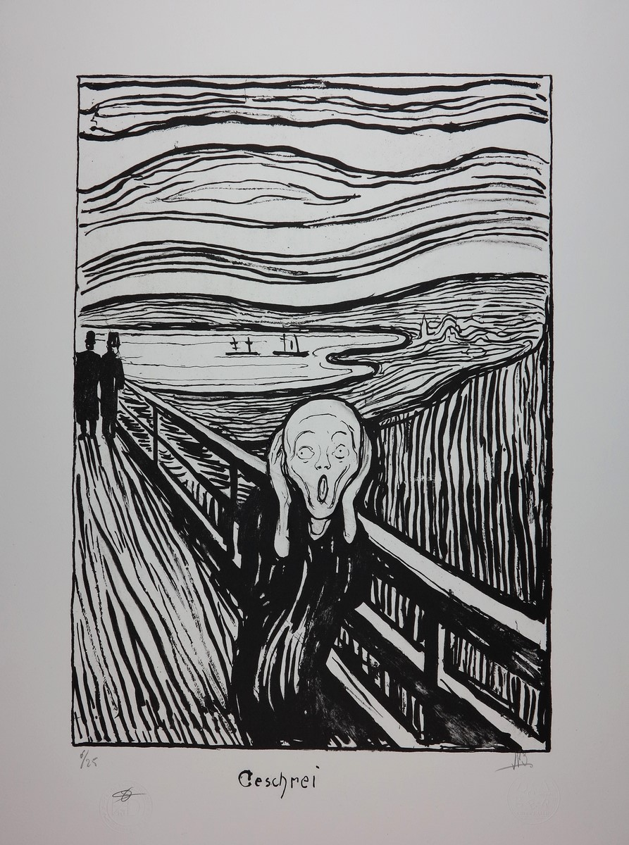 Edvard MUNCH Lithograph THE SCREAM
