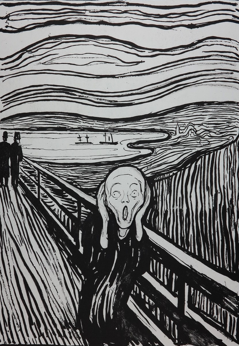 Edvard MUNCH Lithographie THE SCREAM
