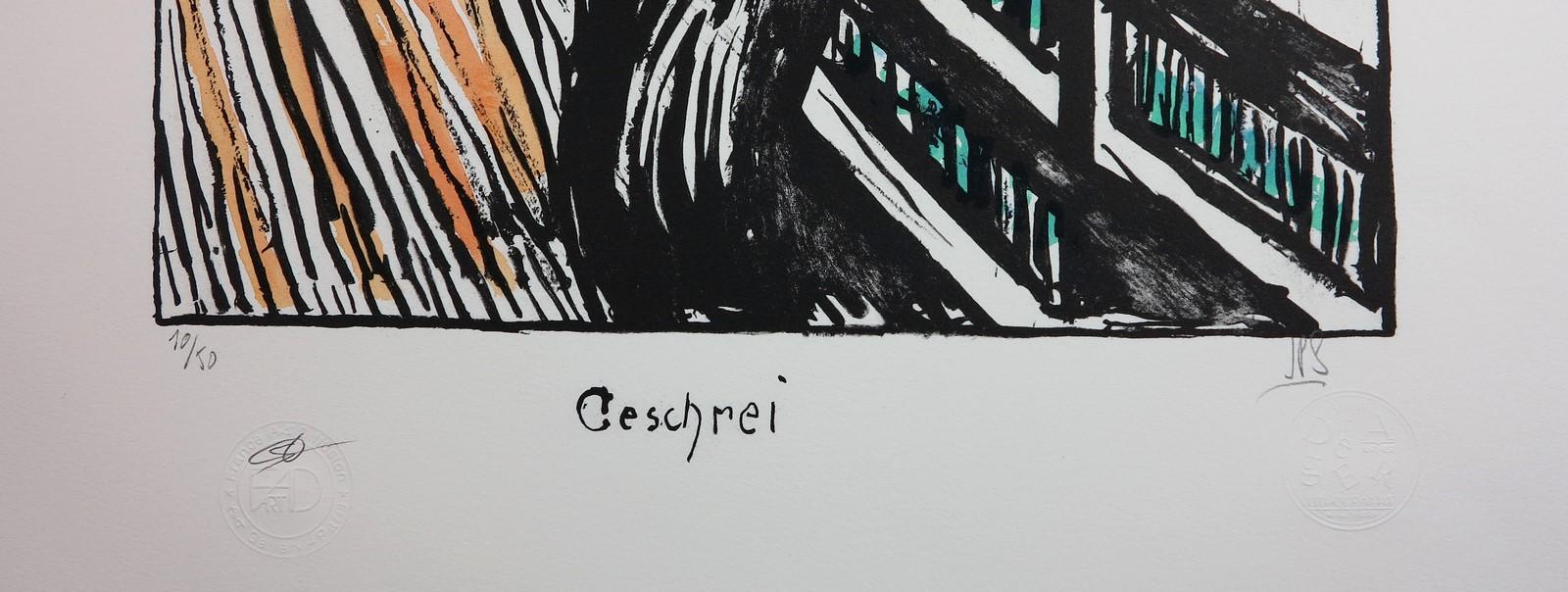 Edvard MUNCH Lithographie LE CRI