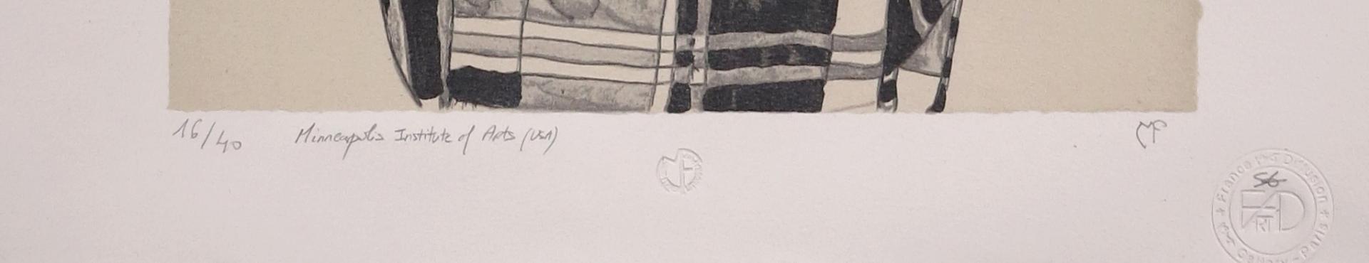 Egon Schiele Lithograph - Portrait of Gerti Schiele 1909