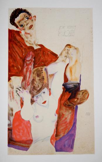 Egon SCHIELE - Lithographie - FRANCE ART DIFFUSION