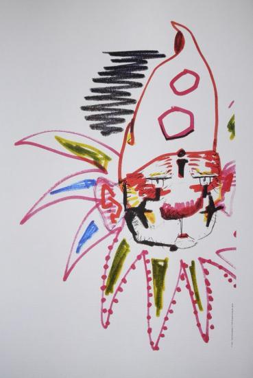 Les Clowns Charlie Rivel lithographie 1976