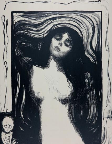 EDVARD MUNCH - Madonna Lithograph