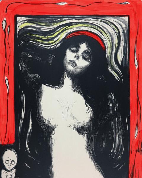 Edvard MUNCH Madonna Lithograph 1895