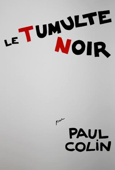 Paul Colin, Josephine Baker, Le tumulte noir / Black thunder 1927