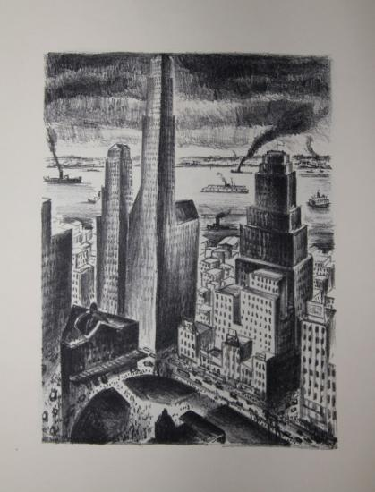 Adriaan Lubbers / Paul Morand - NEW-YORK - Lithographies