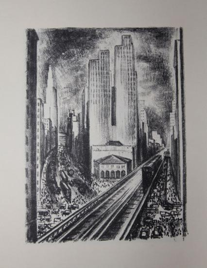 Adriaan Lubbers / Paul Morand - NEW-YORK - Lithographs
