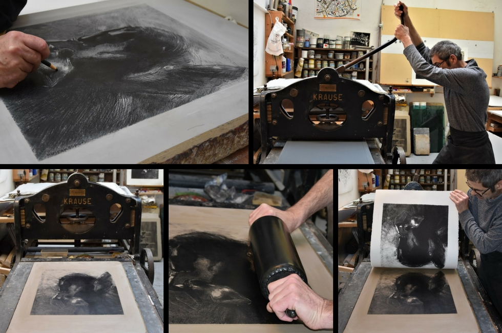 Odilon Redon, Pegase Captif / Captive Pegasus Lithograph