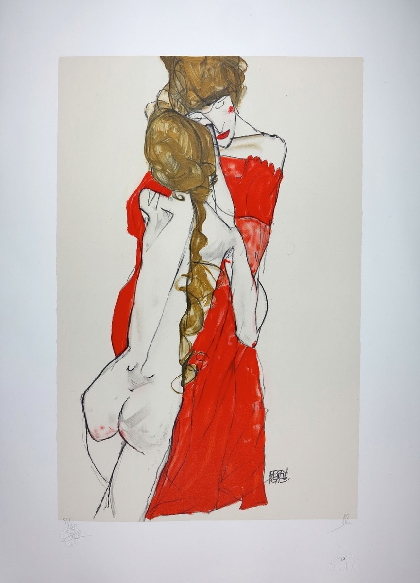 Egon SCHIELE Mother & Daughter Lithograph