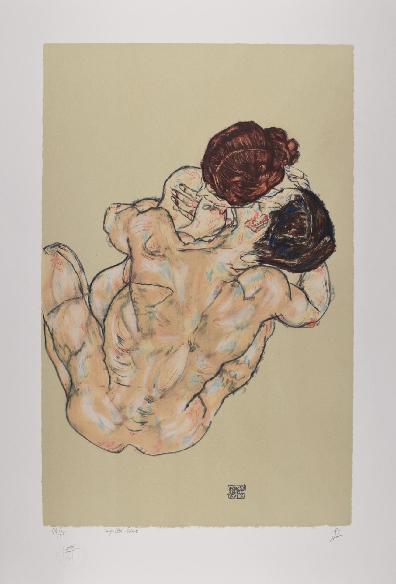 EGON SCHIELE | Mann und Frau, 1917 | Lithograph