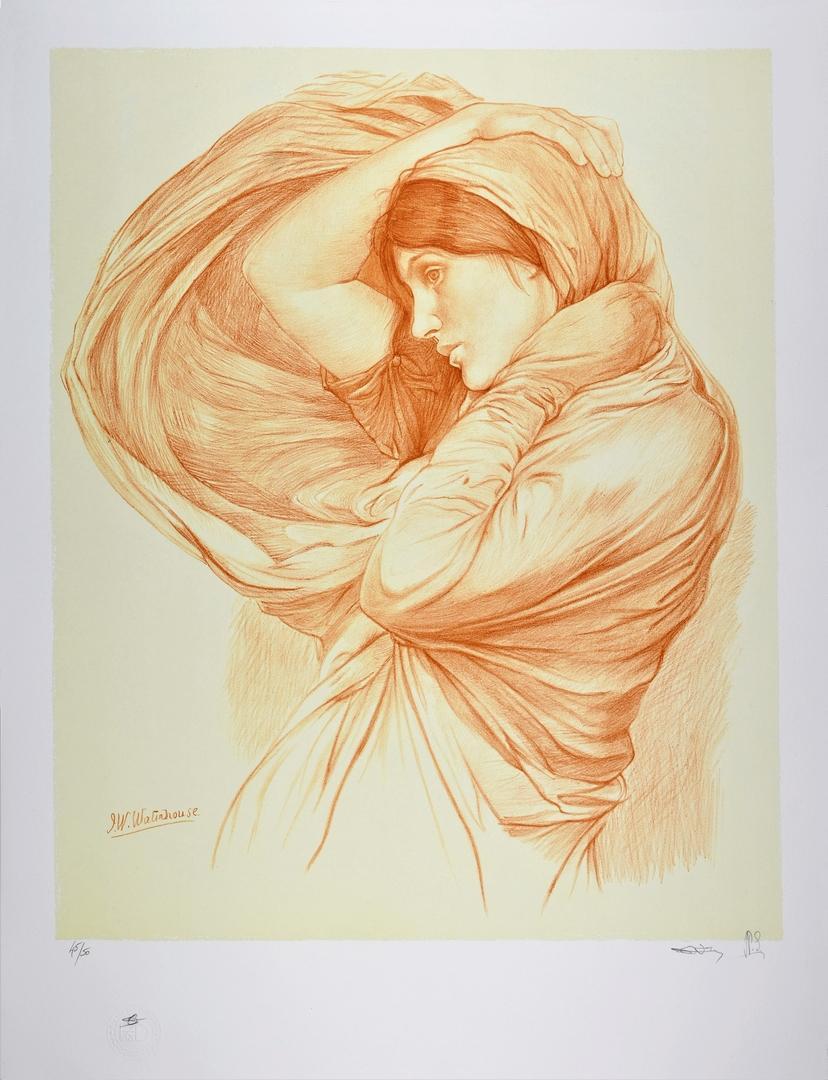 JOHN WILLIAM WATERHOUSE | Study for Boreas, 1904 | Lithograph